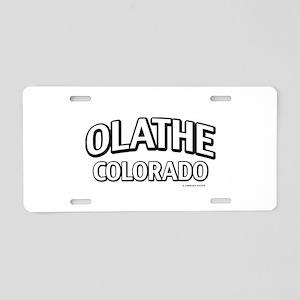 Olathe Colorado Aluminum License Plate