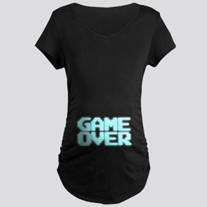 Game Over - Old 80s Arcade Screen Maternity T-Shir