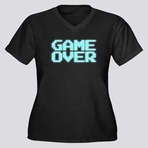 Game Over - Old 80s Arcade Screen Plus Size T-Shir