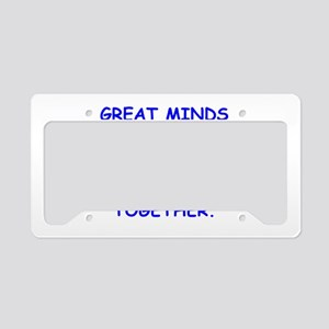 dirty minds License Plate Holder