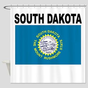 South Dakota State Flag Shower Curtain
