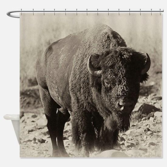 Unique Bison Shower Curtain