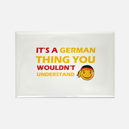 Germany smiley designs Rectangle Magnet