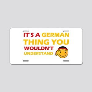 Germany smiley designs Aluminum License Plate