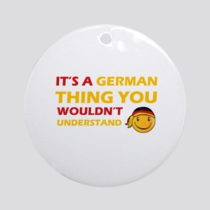 Germany smiley designs Ornament (Round)