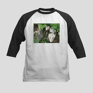 mother opossum in garden with babi Baseball Jersey