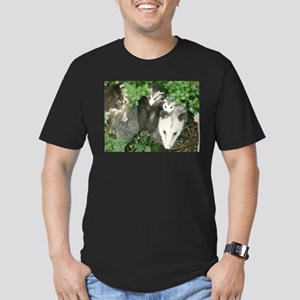 mother opossum in garden with babies face T-Shirt