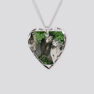 mother opossum in garden with Necklace Heart Charm