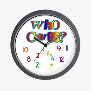 Who Cares Wall Clock