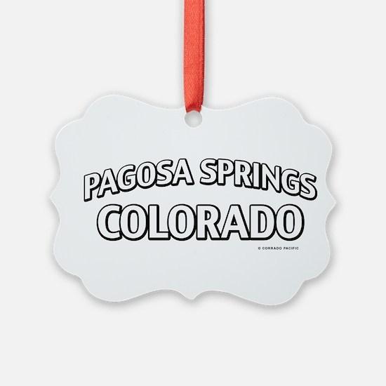 Pagosa Springs Colorado Ornament