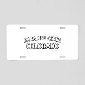Paradise Acres Colorado Aluminum License Plate