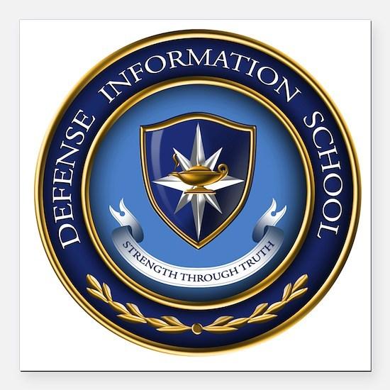 Defense Information School Clasic Square Car Magne