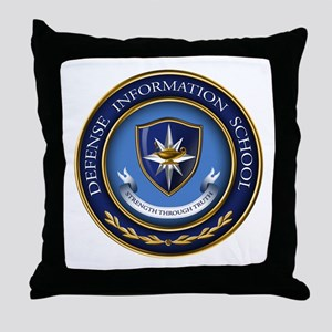 Defense Information School Clasic Throw Pillow