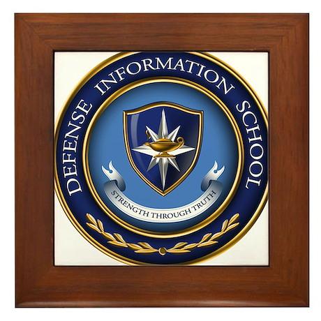 Defense Information School Clasic Framed Tile