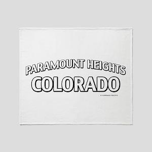 Paramount Heights Colorado Throw Blanket