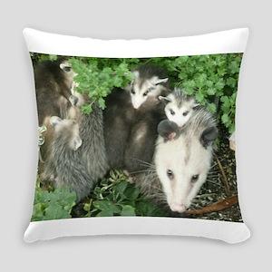 mother opossum in garden with babi Everyday Pillow