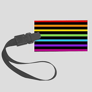 'Neon Rainbow' Large Luggage Tag