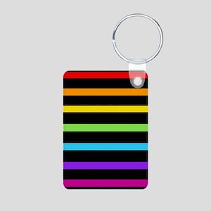 'Neon Rainbow' Aluminum Photo Keychain