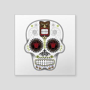 CANDY SKULL-Hawiian Shirt-ghost outline Sticker