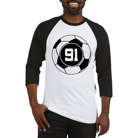 Soccer Number 91 Player Baseball Jersey