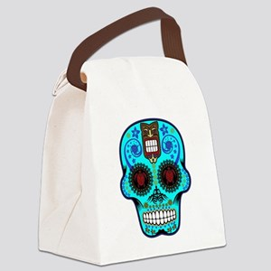 CANDY SKULL-Light Blue Hawiian Shirt Canvas Lunch