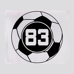Soccer Number 83 Player Throw Blanket