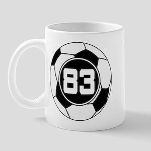 Soccer Number 83 Player Mug