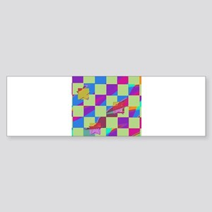 stary glitch Bumper Sticker