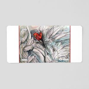 Sandhill Crane! Bird art Aluminum License Plate