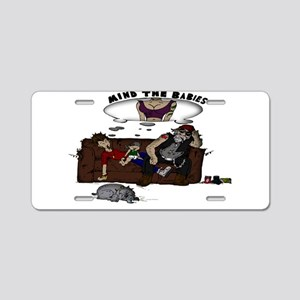 Mind the Gangs Babies Aluminum License Plate