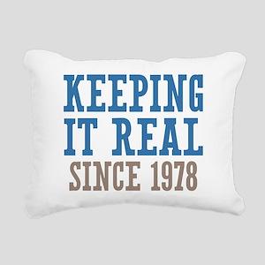 Keeping It Real Since 1978 Rectangular Canvas Pill