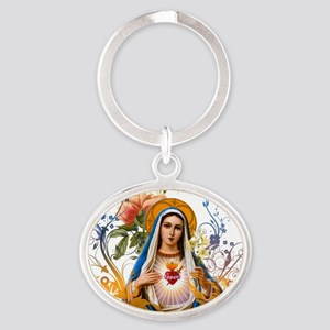 Immaculate Heart of Mary Oval Keychain