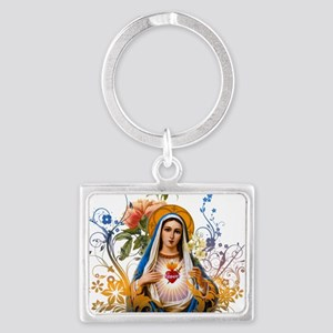 Immaculate Heart of Mary Landscape Keychain