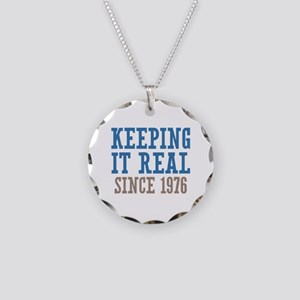 Keeping It Real Since 1976 Necklace Circle Charm