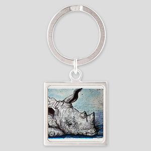 Rhino! Wildlife art! Keychains