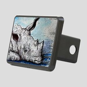 Rhino! Wildlife art! Hitch Cover