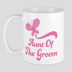Aunt of the Groom Butterfly Mug