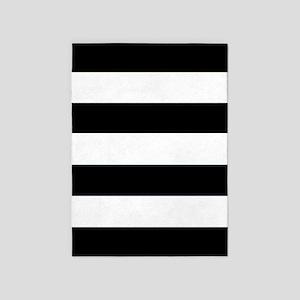 'Black & White' 5'x7'Area Rug