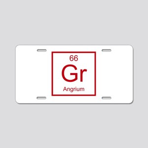 Gr Angrium Element Aluminum License Plate