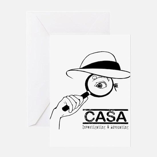 CASA Detective Greeting Card