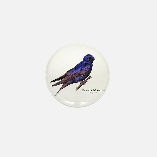 Purple Martin Mini Button