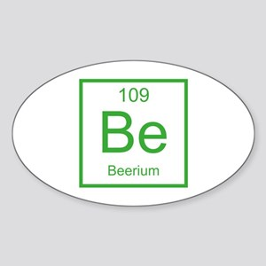 Be Beerium Element Sticker (Oval)