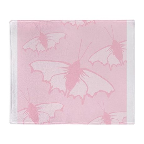 pale pink butterflies throw blanket by metarla4. Black Bedroom Furniture Sets. Home Design Ideas