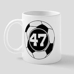 Soccer Number 47 Player Mug