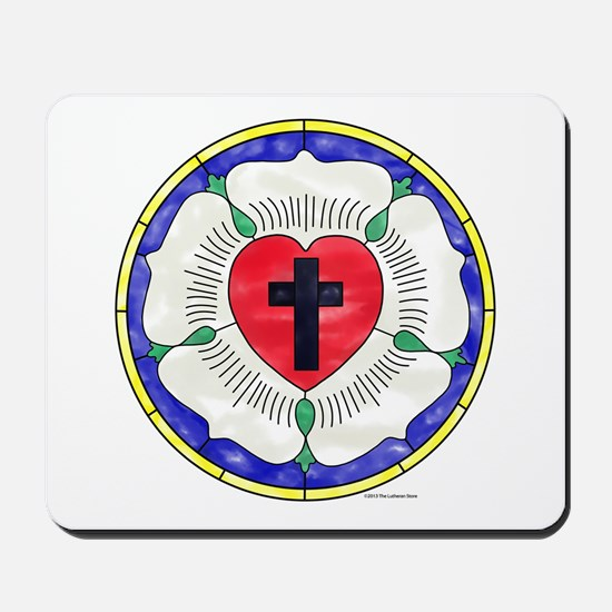 Luther Seal Stained Glass Window Mousepad