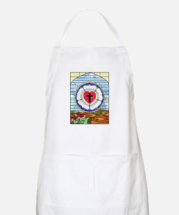 Luther Seal Stained Glass Window Apron