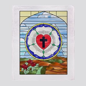 Luther Seal Stained Glass Window Throw Blanket