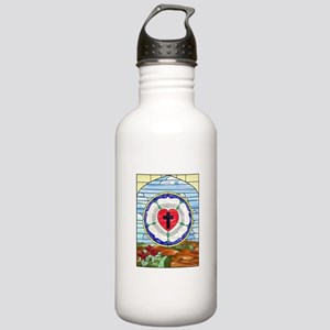 Luther Seal Stained Glass Window Water Bottle