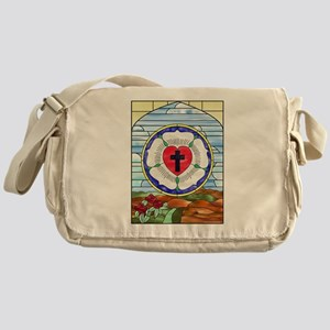 Luther Seal Stained Glass Window Messenger Bag