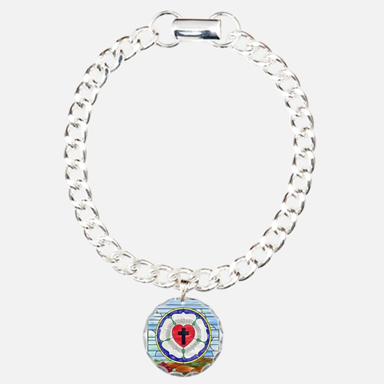 Luther Seal Stained Glass Window Bracelet
